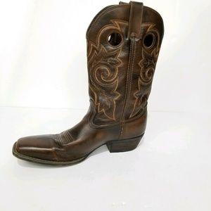 Durango Brown Gambler Cowboy Western Boots  10.5 D